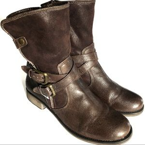 New BareTraps• Moto Leather Zip Up Boot• Sz 9.5